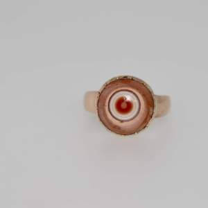 An Early 19th Century Banded Hardstone And Rose Gold Ring