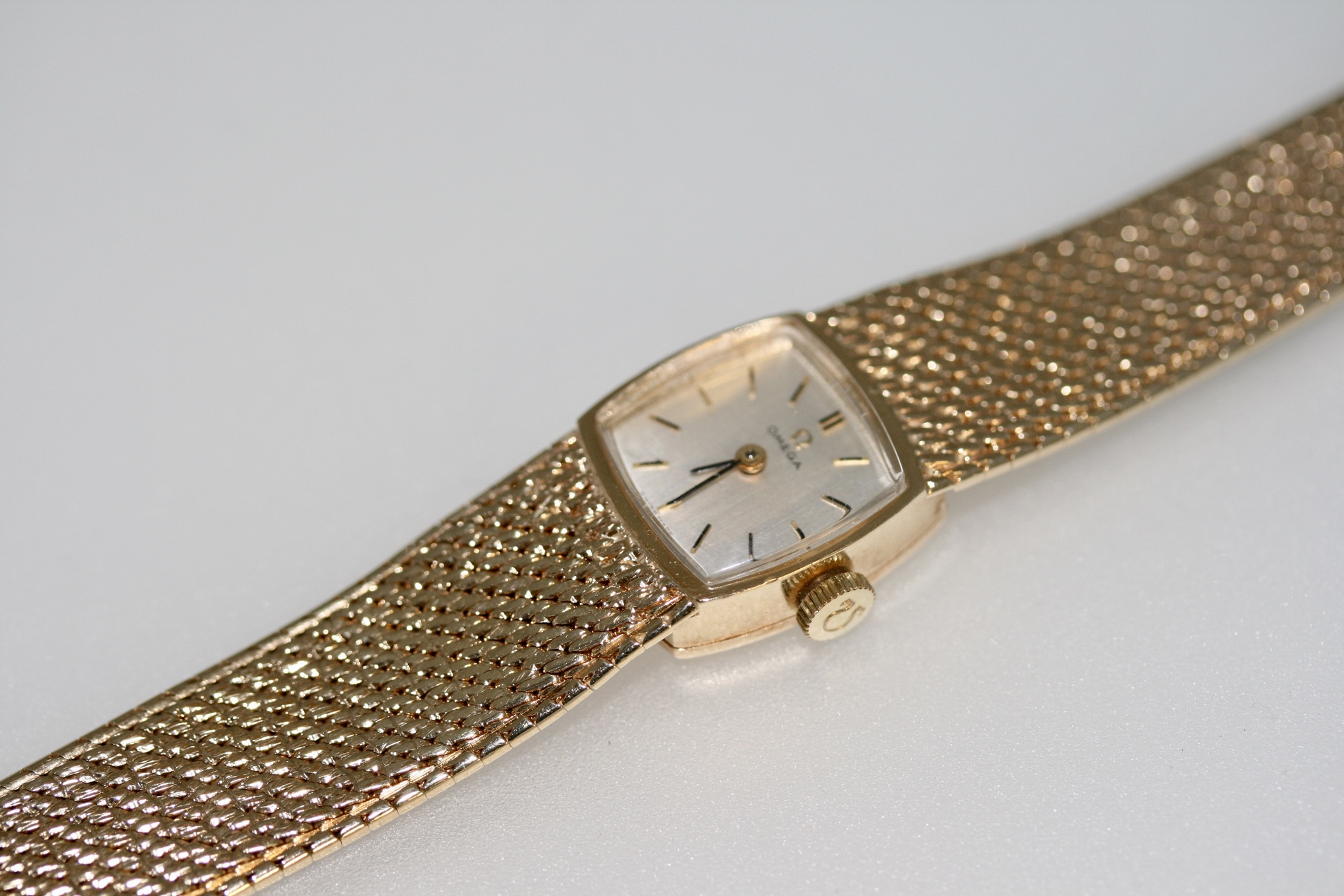 A 1960's Ladies 9ct Gold Manual Wind Omega Wristwatch