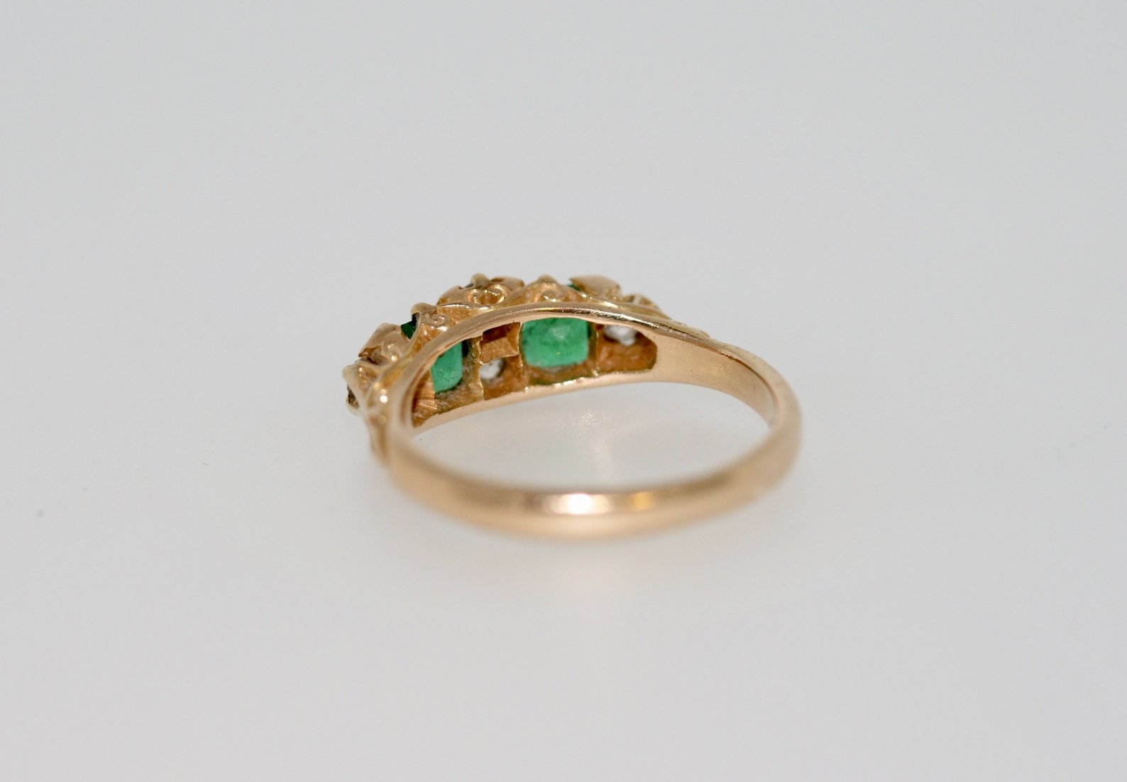 Edwardian Emerald And Diamond Ring, Circa 1904