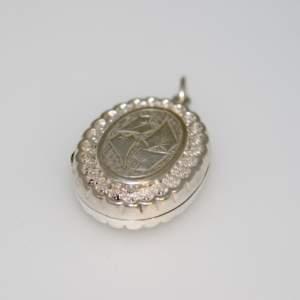 A Victorian Silver Locket - Circa 1890