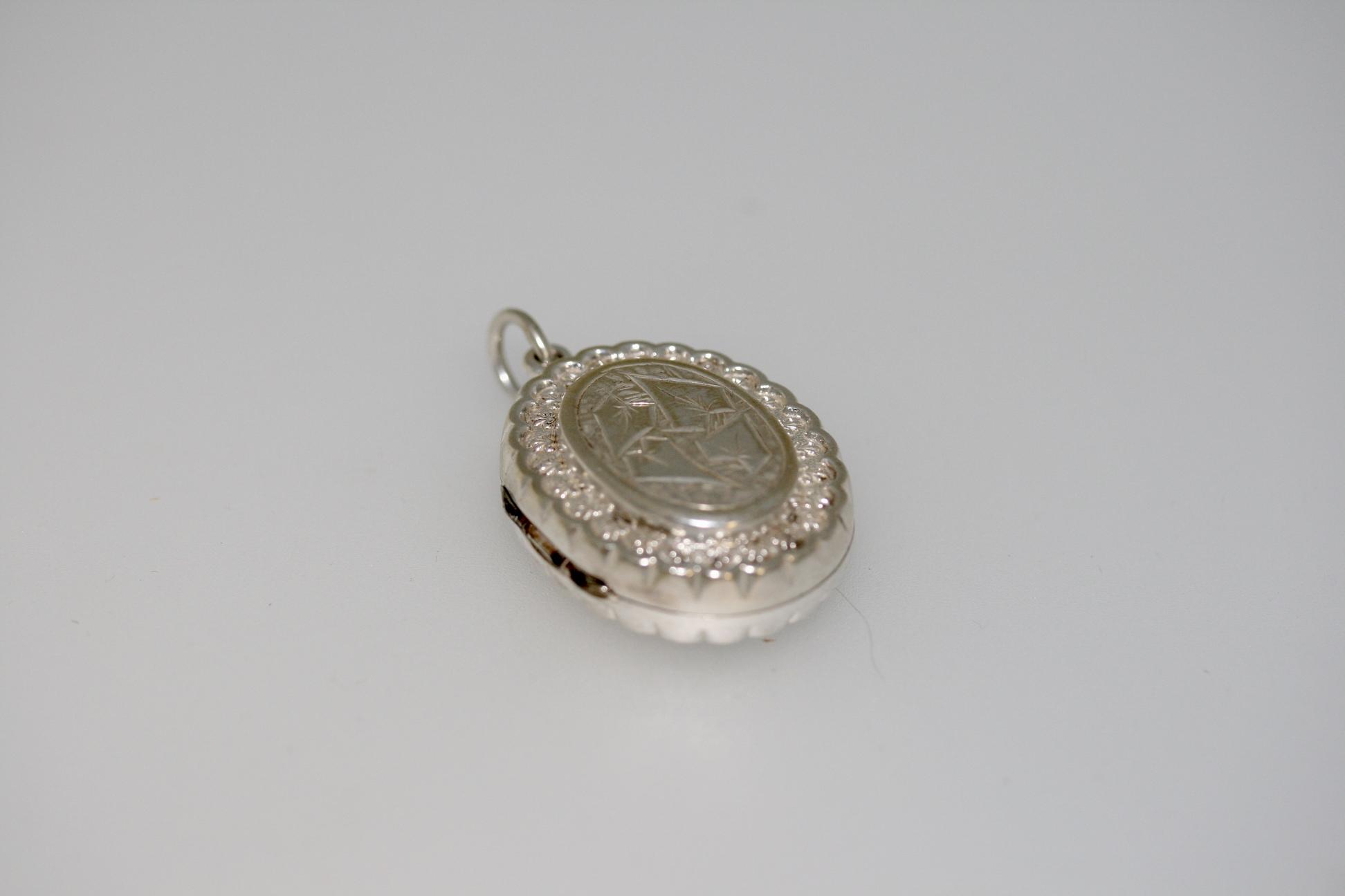 A Victorian Silver Locket, Circa 1890