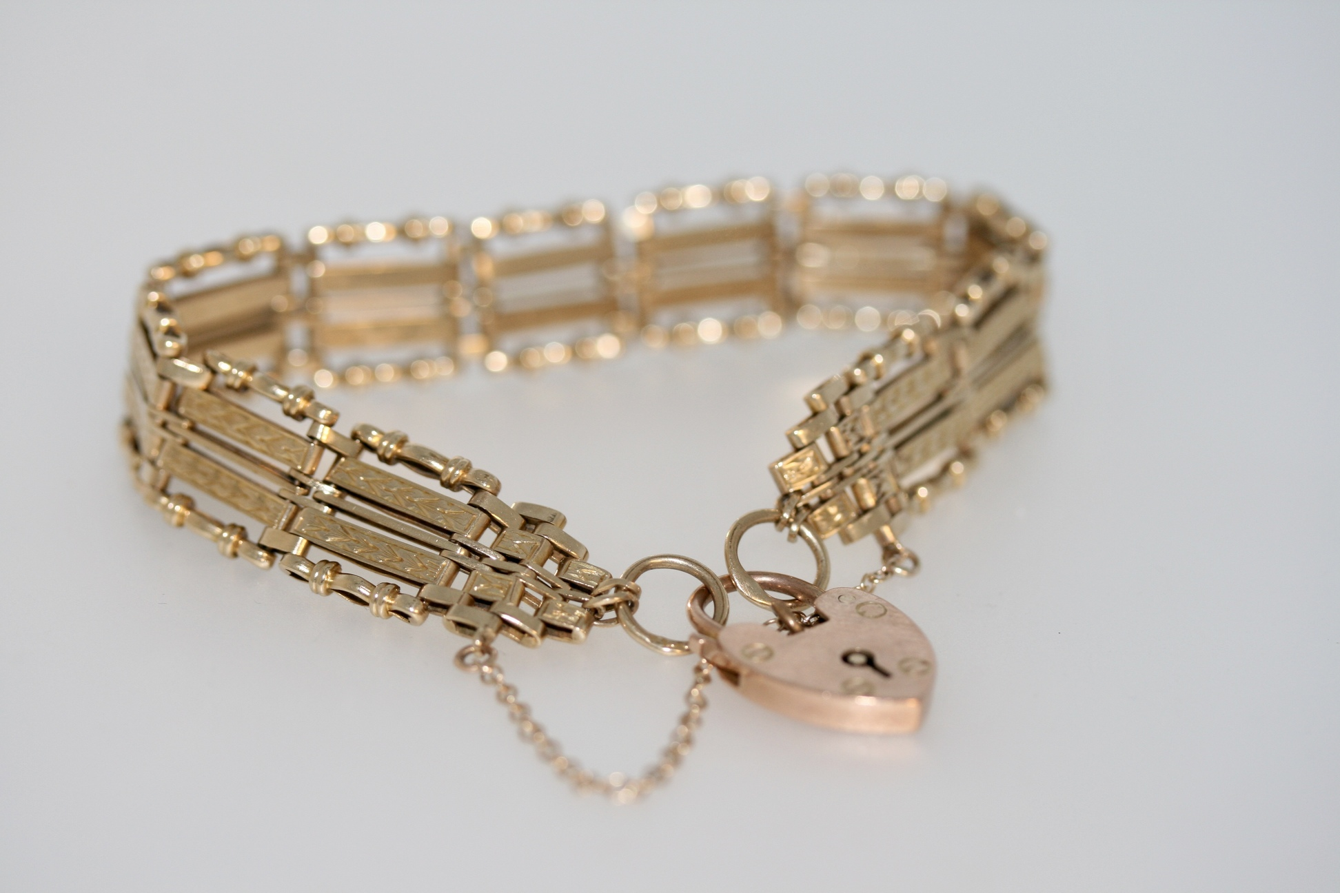9ct Gold Gate Link Bracelet