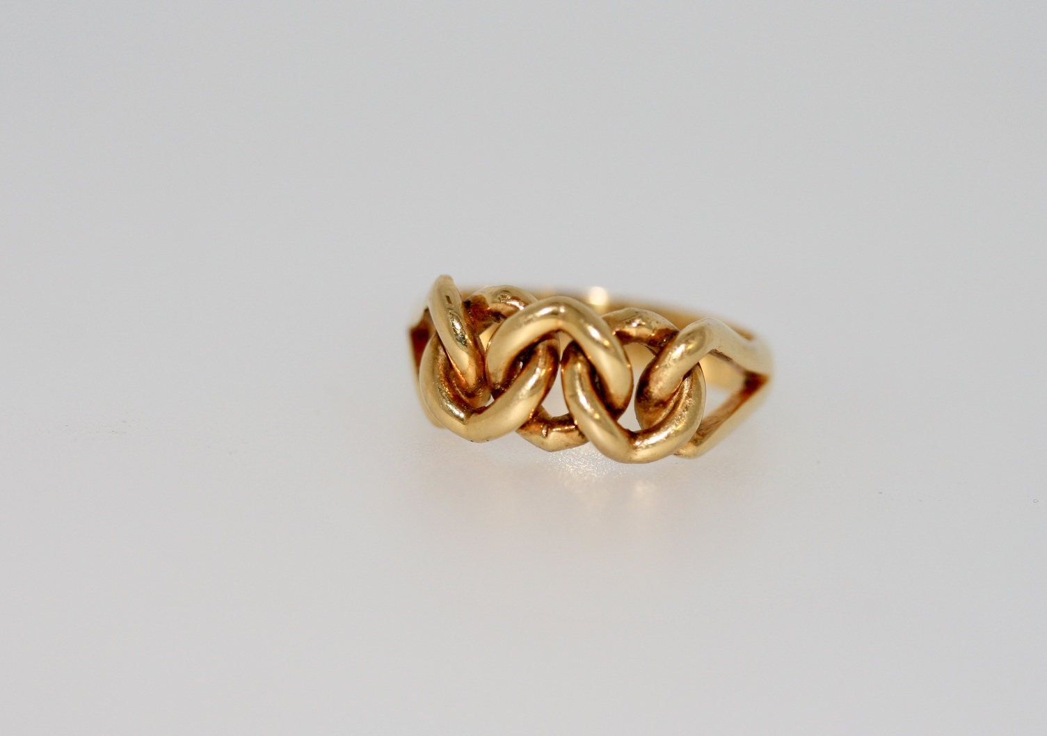 18ct Yellow Gold Knot Ring, Chester 1911