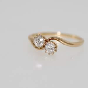 A 1930's 'moi Et Toi' Diamond Ring