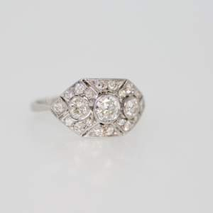 A 1940's Art Deco Style Diamond Ring
