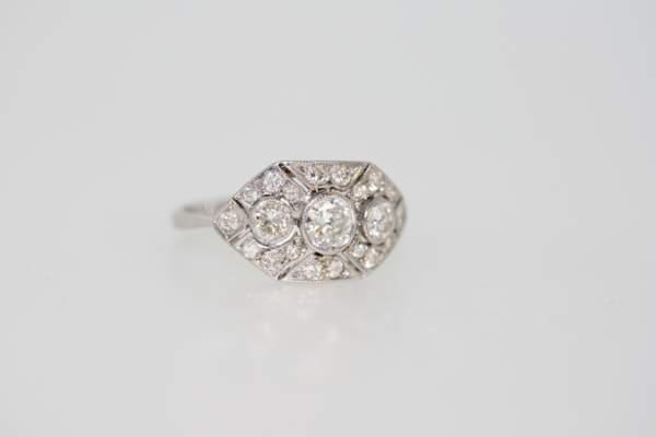 A 1940's Art Deco Style Diamond Ring