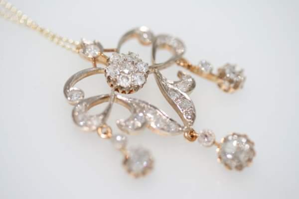 A Late Victorian Diamond Chandelier Pendant, Circa 1890's