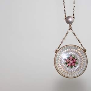 Edwardian Floral Enamelled Necklace