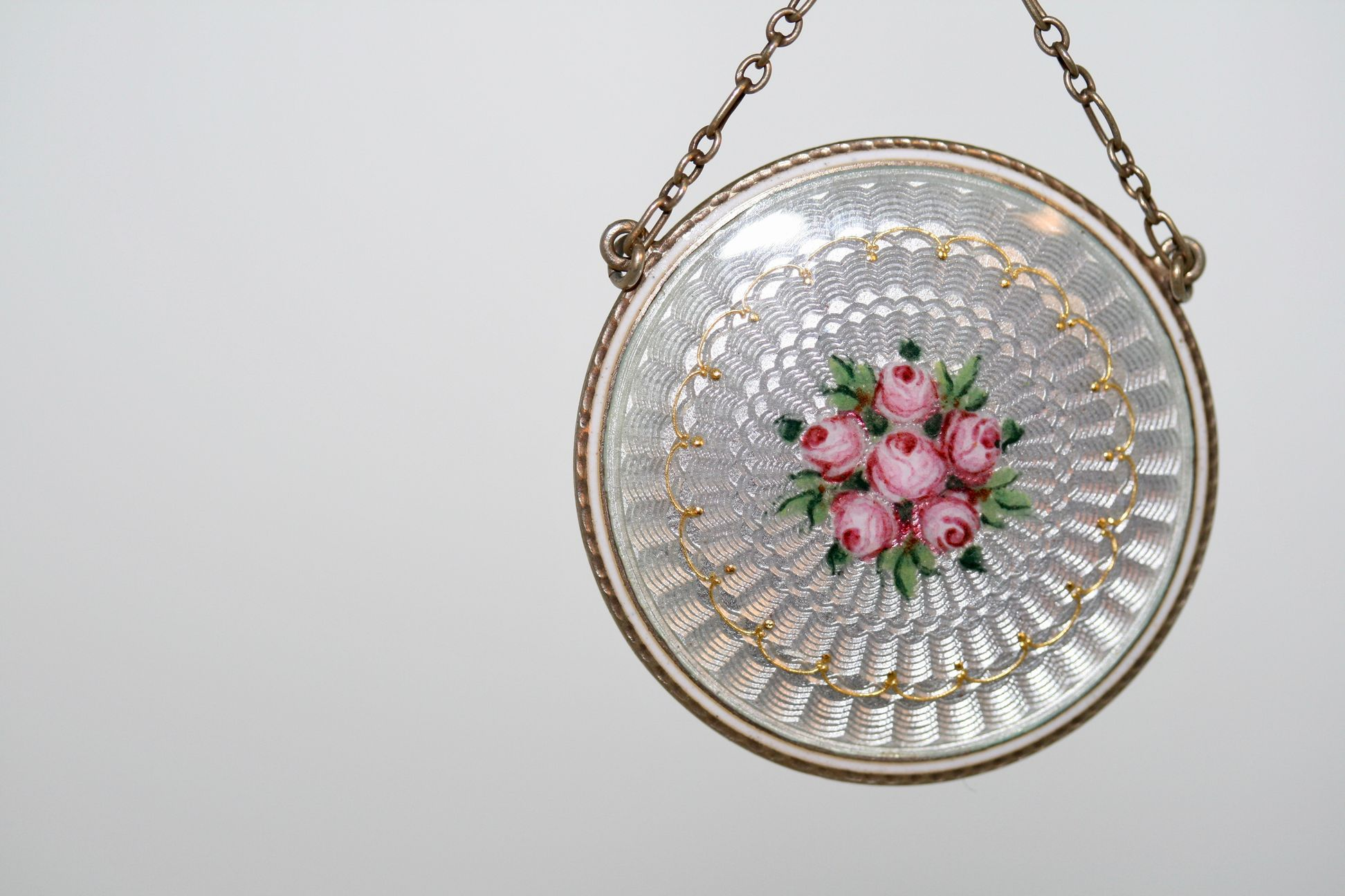Edwardian Floral Enamelled Necklace