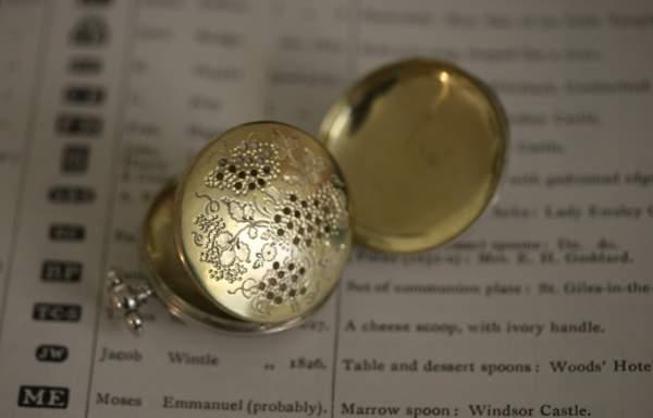 A George Iv Silver Pocket Watch Style Vinaigrette