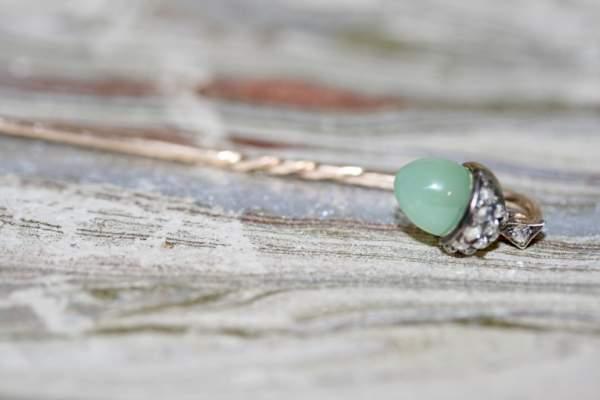 Victorian 'acorn' Diamond Stick Pin, Circa Late 19th Century