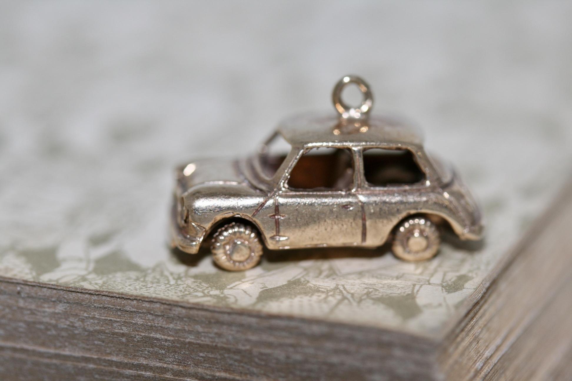 A 1960's 9ct Yellow Gold 'mini' Car Charm