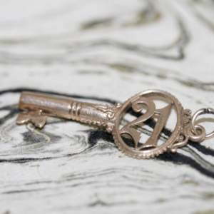 9ct Gold '21' Key Charm