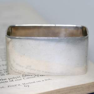 Silver Rectangular Napkin Ring