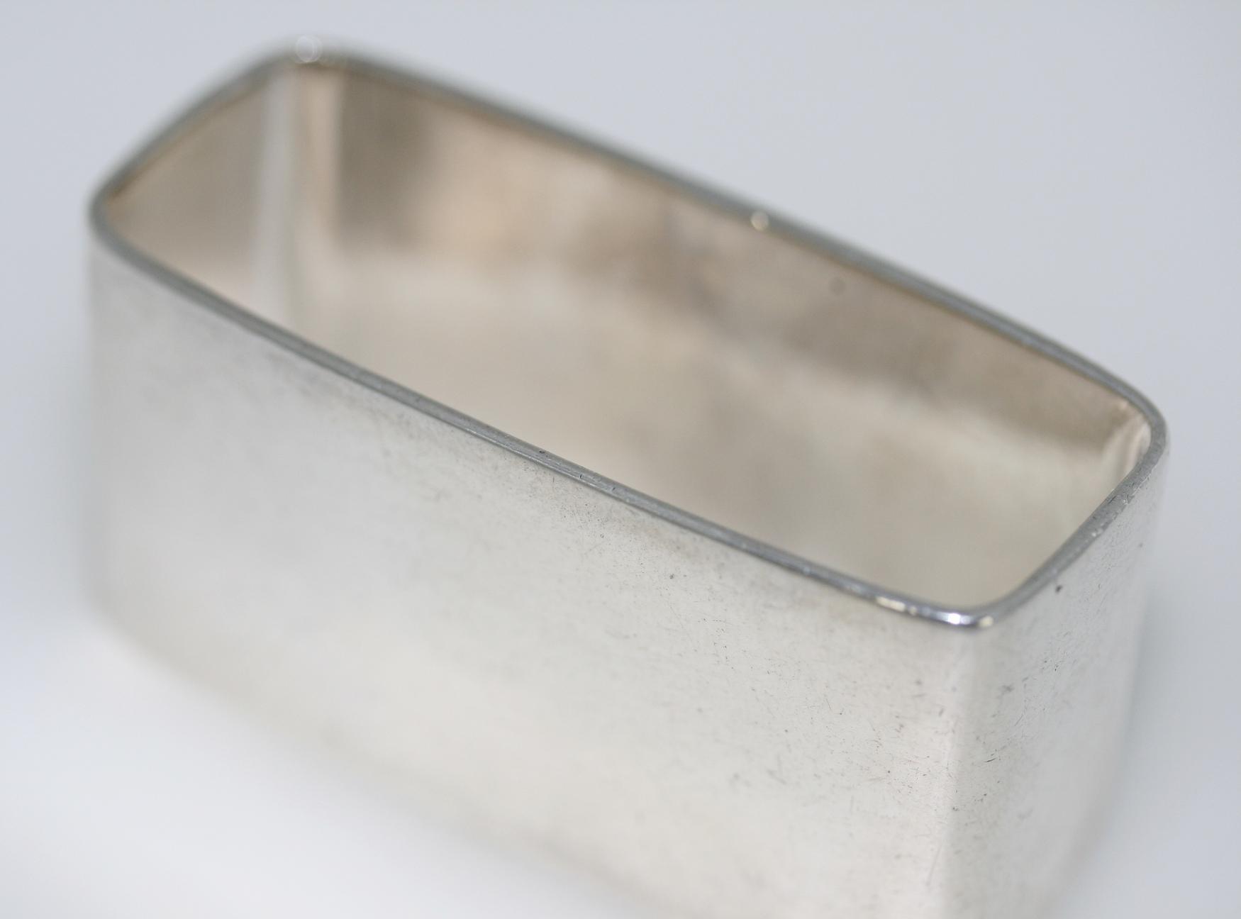 Silver Rectangular Napkin Ring