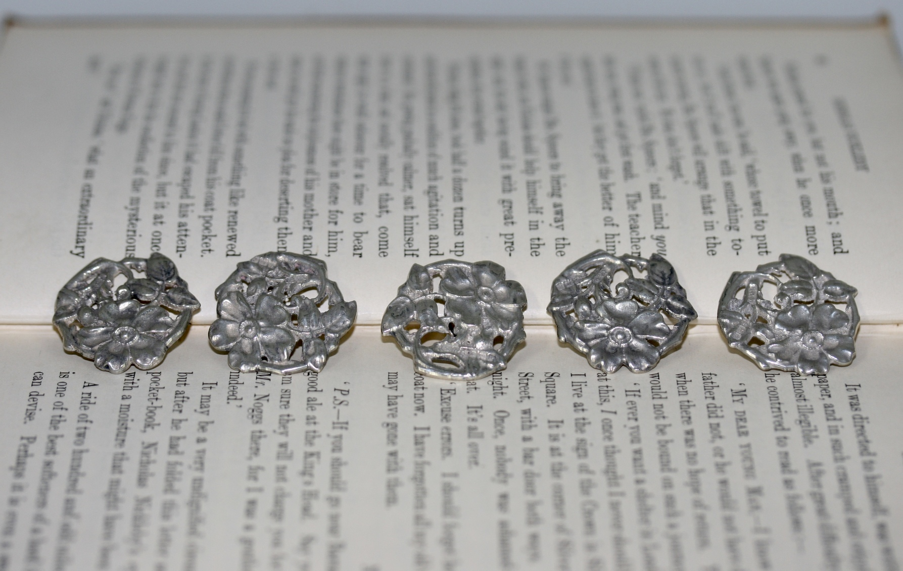 Silver Cast Buttons