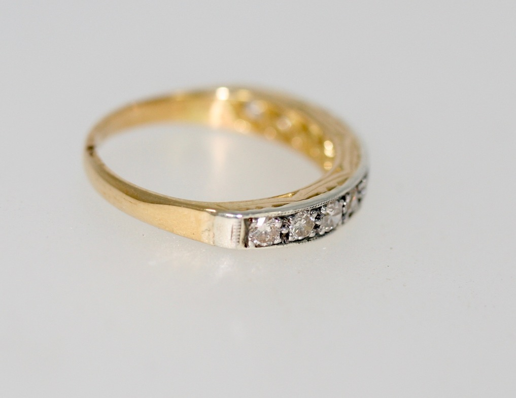 A Pre-owned Diamond Half Eternity Band