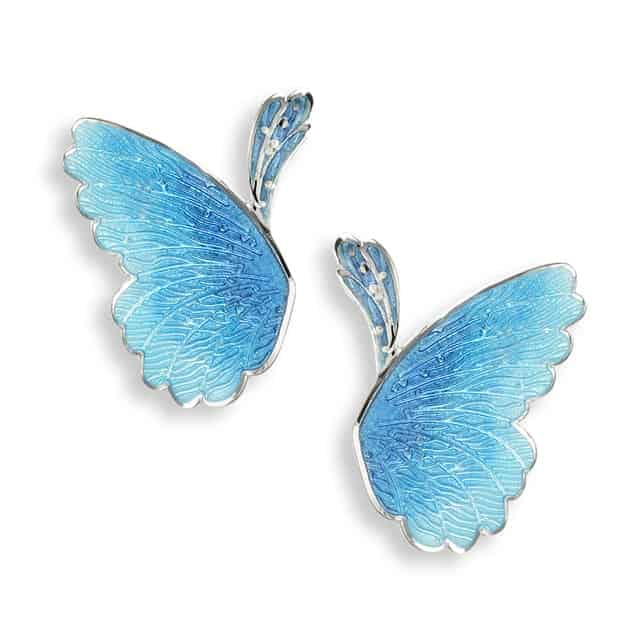 NB blue butterfly wing studs