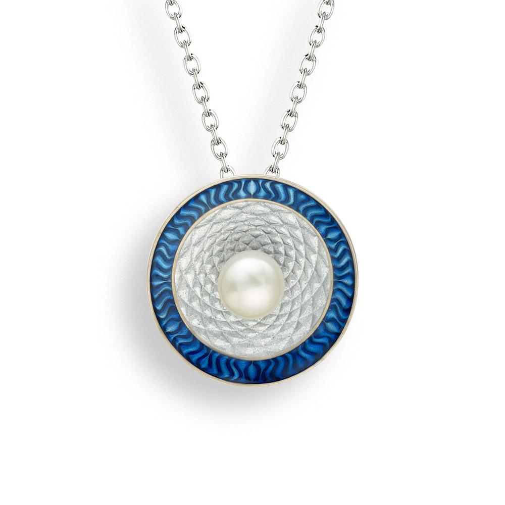 NB blue target necklace