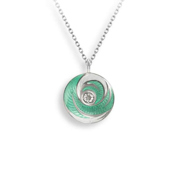 NB green circle necklace