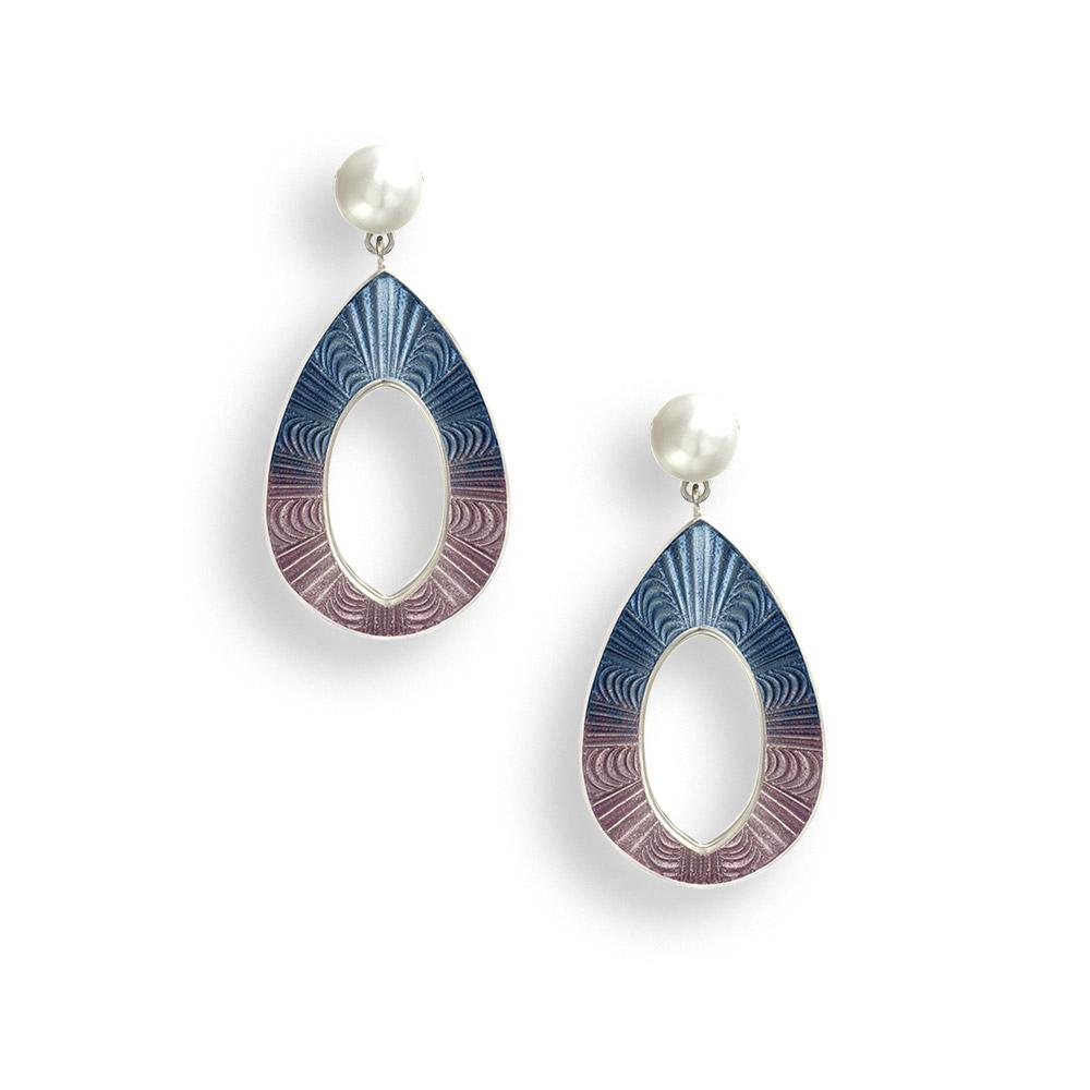 NB pink blue pearl earrings