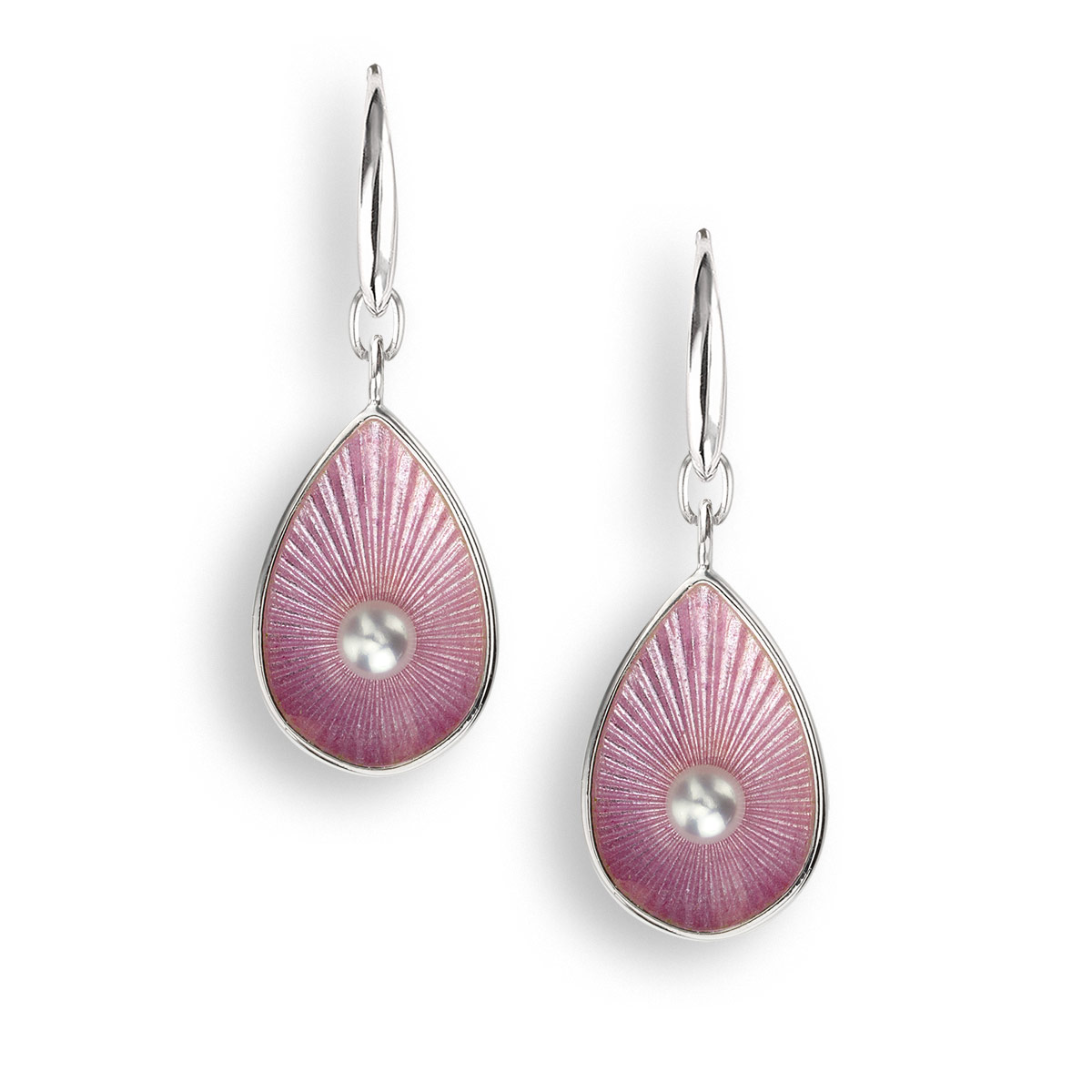 NB pink teardrop earrings