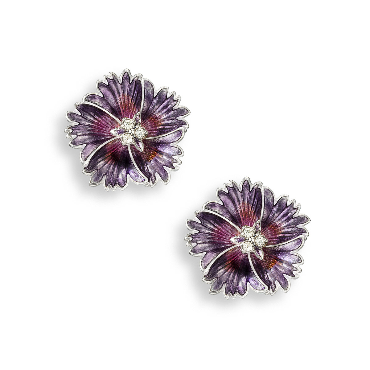 NB purple flower studs