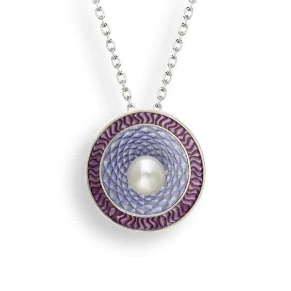 NB purple target necklace