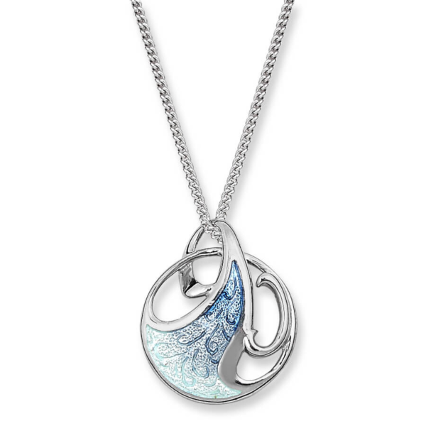 blue art nouveau necklace