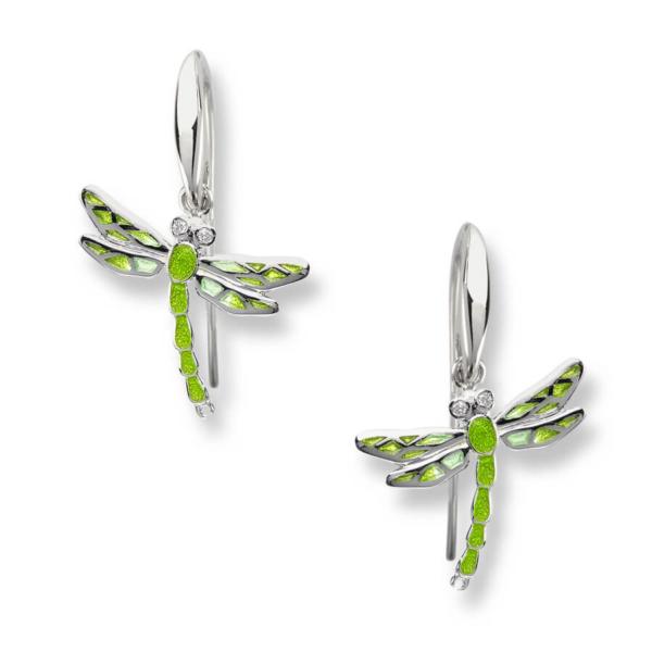 green drfagonfly earrings