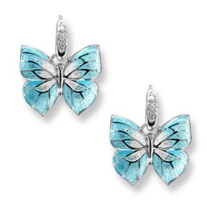 light blue butterflies