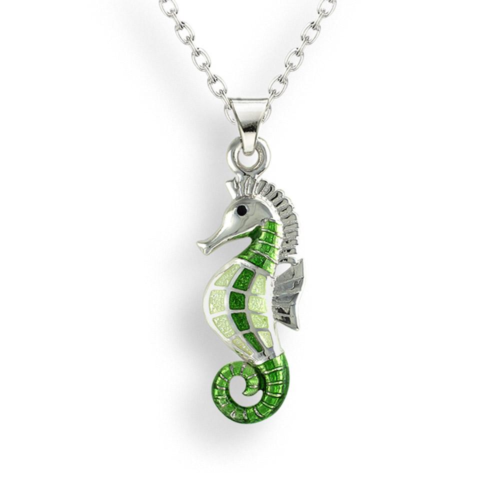 small green seahorse